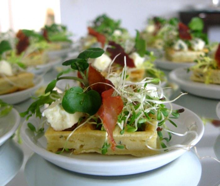Waffle de Gorgonzola e Parma