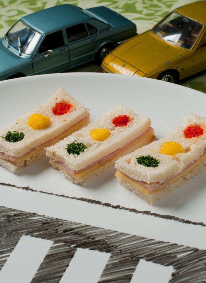 Mini Sanduíches Semáforo