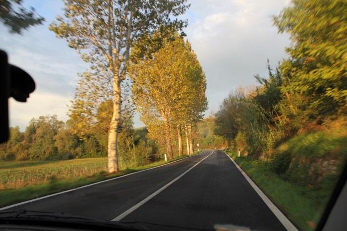 Estrada Regional na Toscana