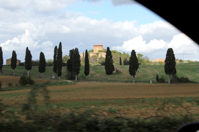 Paisagem na Toscana