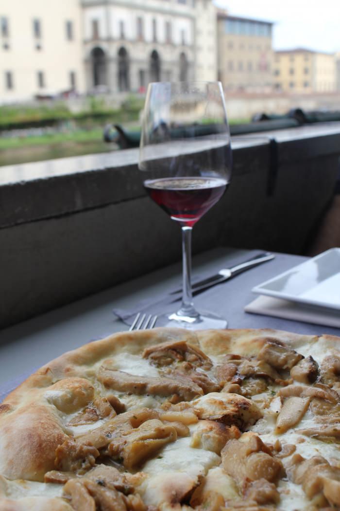 Pizza de Porcini em Florença