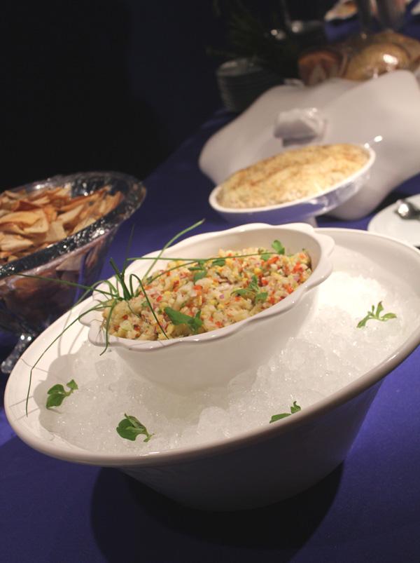 Ceviche de Linguado na Ilha de Degustação