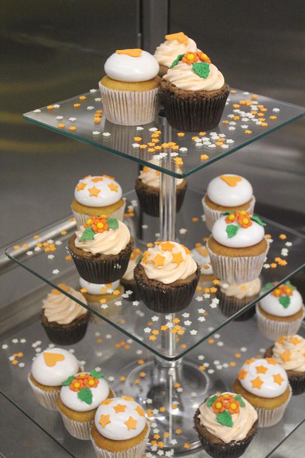 Cupcakes na cor laranja
