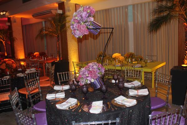 Mesa dos Convidados Lilás