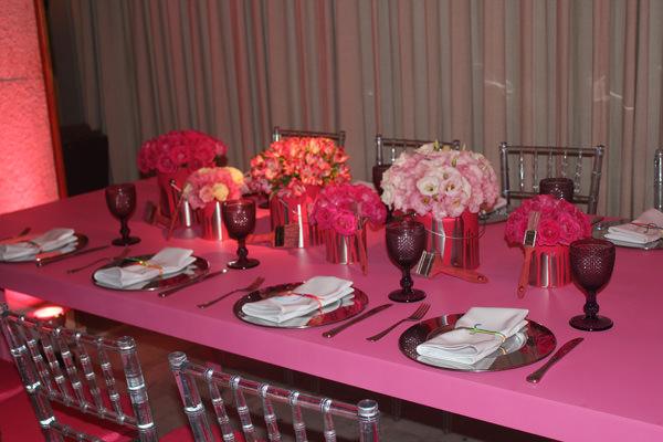 Mesa dos Convidados Rosa