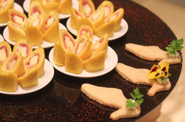 Mini Crepe de Parma e Brie com Mostarda ao Estragão