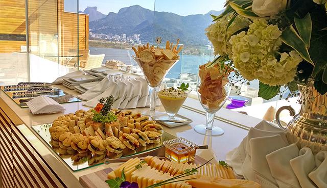 Ilha de Degustação para 45 convidados