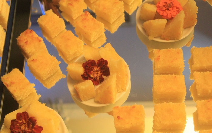 Mini Cake de Aipim com Coco